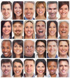 Verschiedene Gesichter