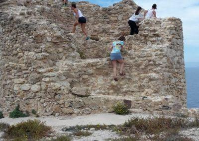 Ruine erklimmen